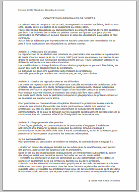 Rediger Conditions Generales De Vente Asm Xyclo